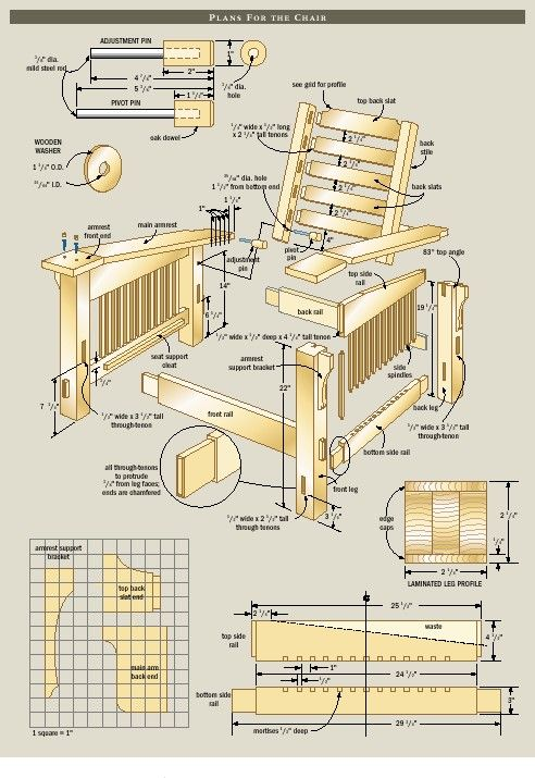 Morris Chair Plans Free 7 Jpg 492 715 Woodworking 2x4