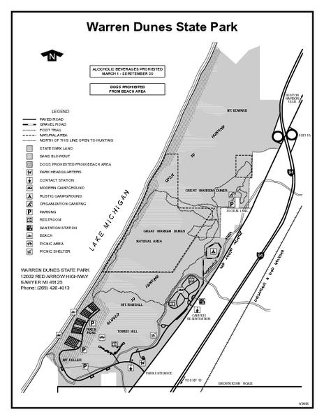 warren dunes state park michigan site map maps local pinterest site map dune and park. Black Bedroom Furniture Sets. Home Design Ideas