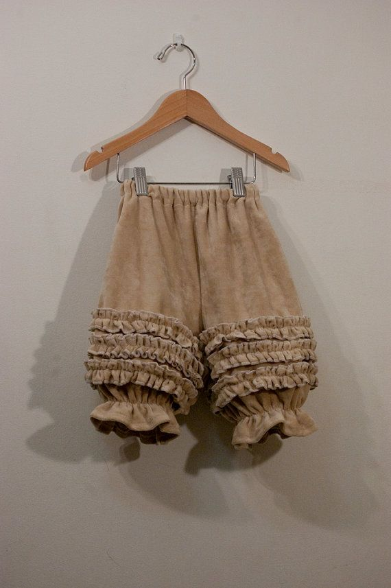 Sweet velour bloomers from Little Mave on etsy.
