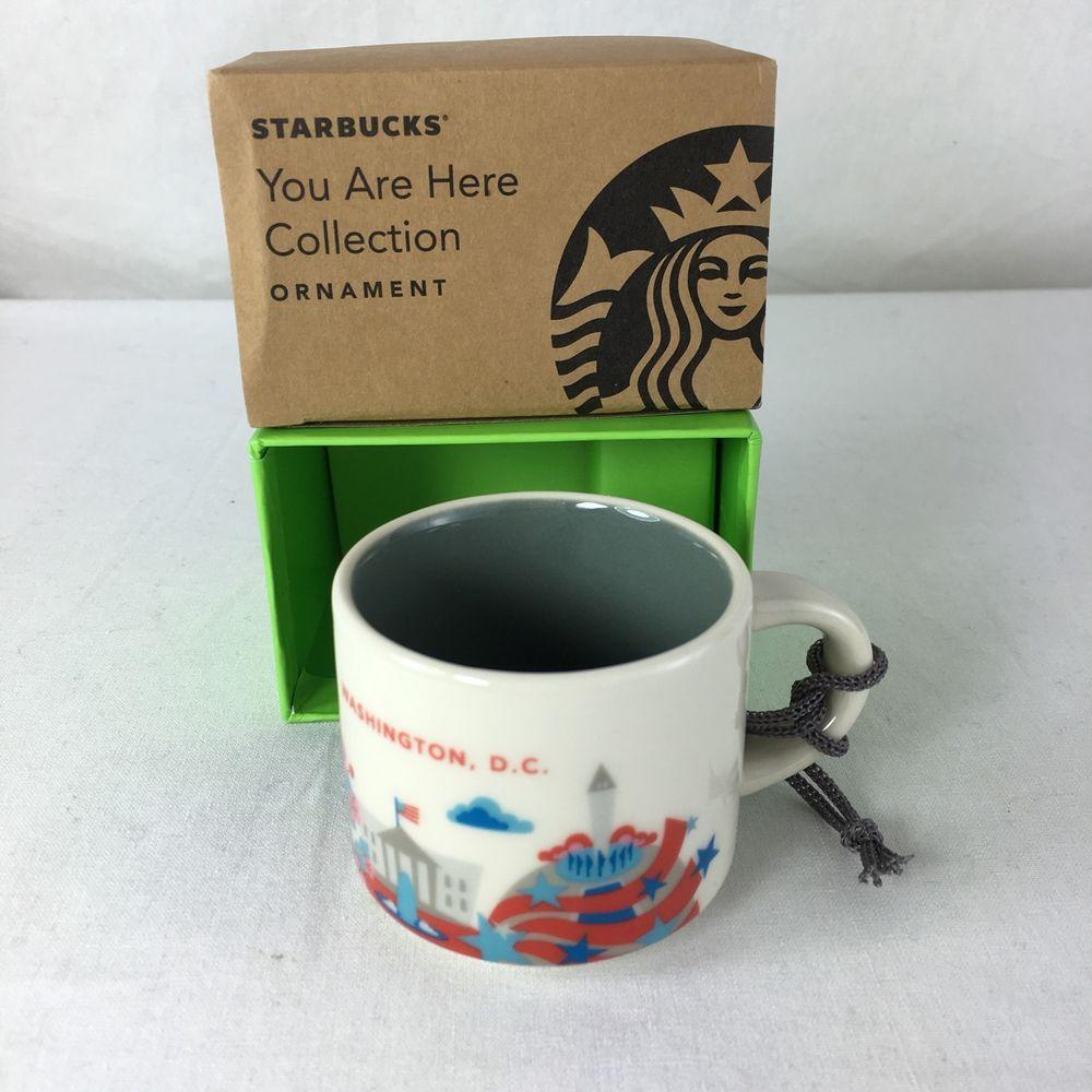 starbucks washington dc you are here yah christmas ornament 2oz ceramic mini mug starbucks and. Black Bedroom Furniture Sets. Home Design Ideas
