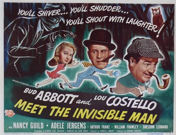 Abbott And Costello Meet The Invisible Man News Abbott Costello Meet The Invisible Man Invisible Man Abbott And Costello Comedy Duos