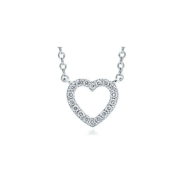 Tiffany Metro Heart Pendant 1100 liked on Polyvore featuring