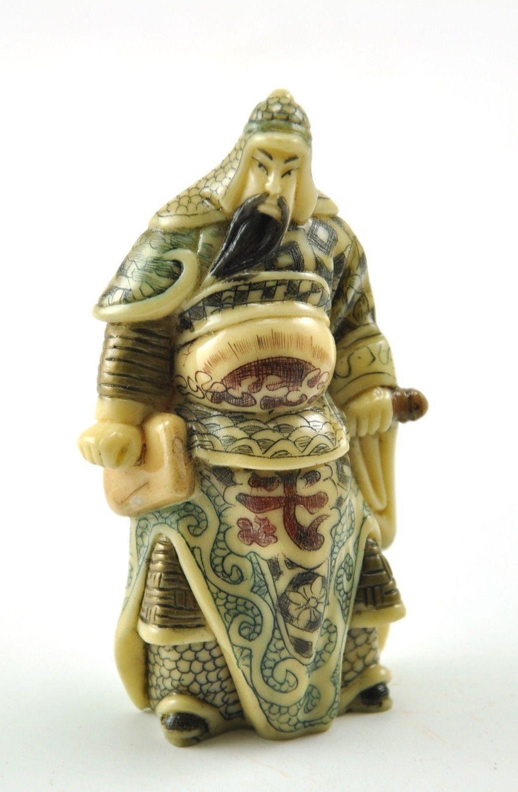 Vintage Chinese Japanese Mini Warrior Soldier Immortal Resin Hand carve Figurine   eBay