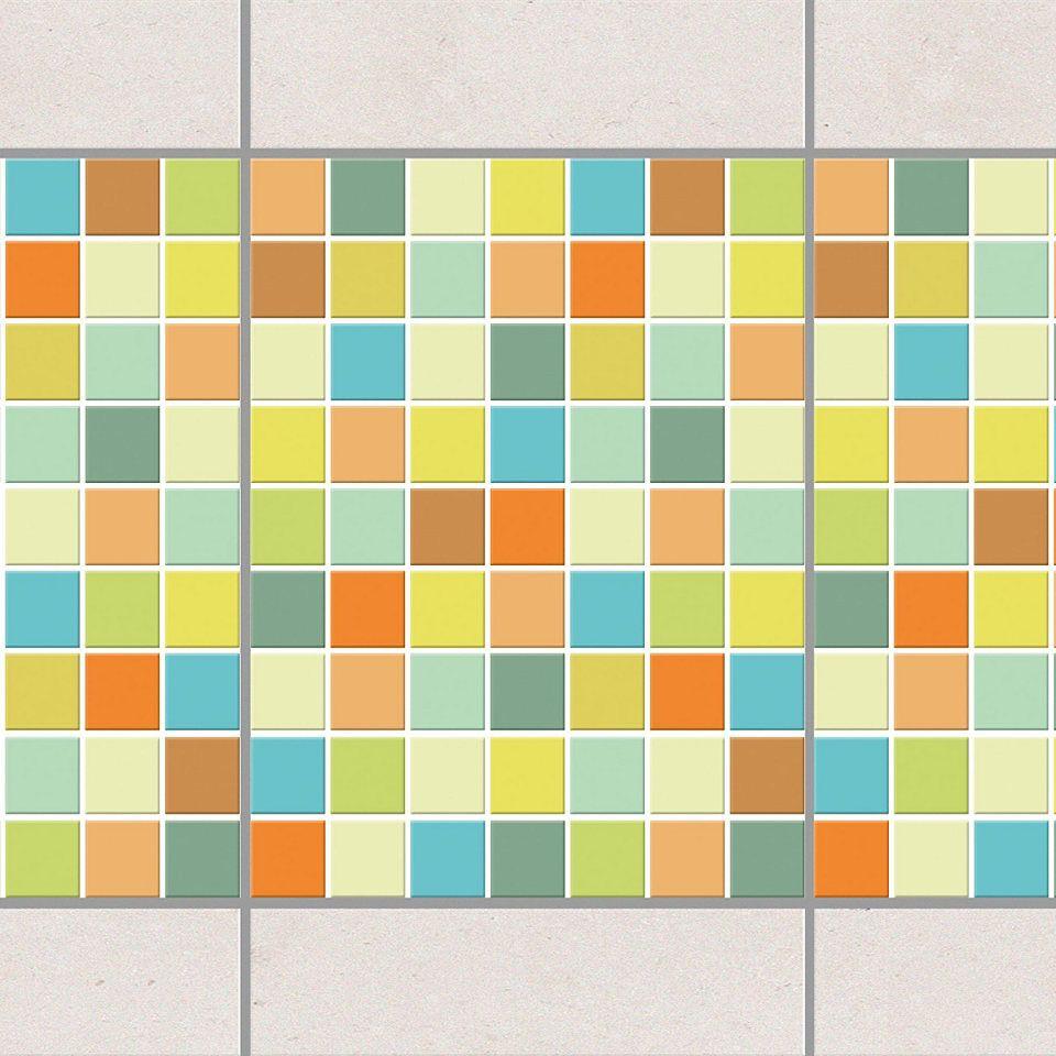 Bilderwelten Fliesen Bordure Set 20x15 Cm Mosaik Sommerset Fliesenaufkleber Mosaik Fliesen Sticker Mosaikfliesen