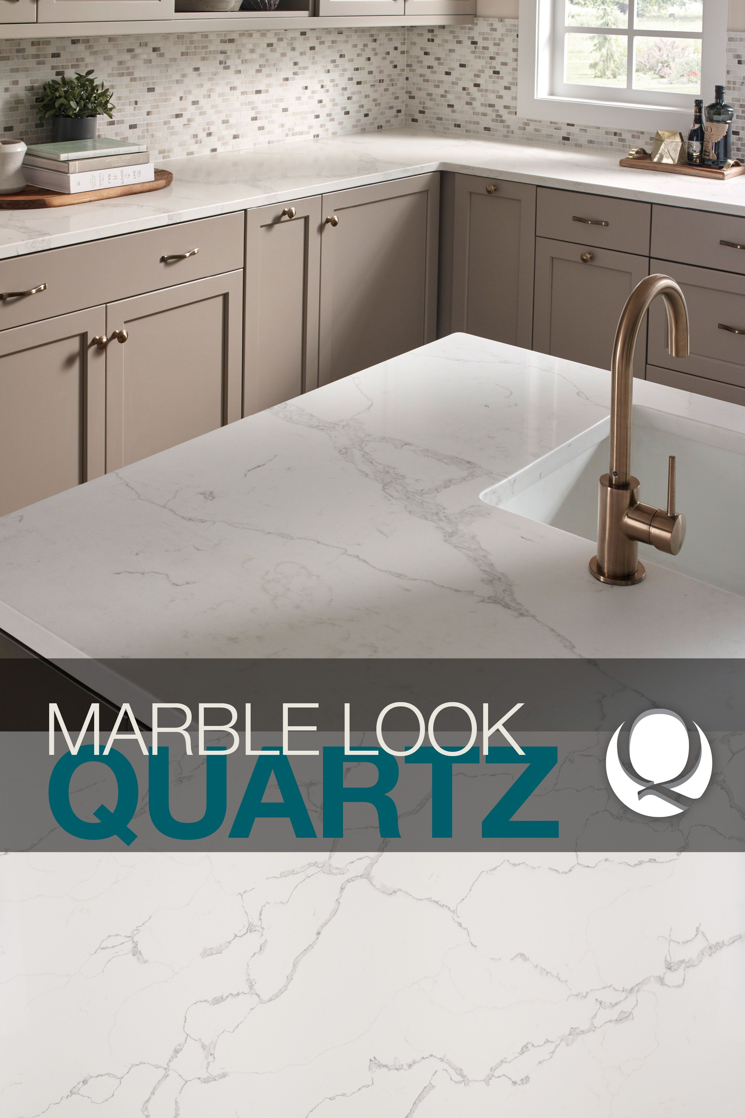 Introducing our newest white marble look-alikes in our Q Premium Natural  Quartz Countertop