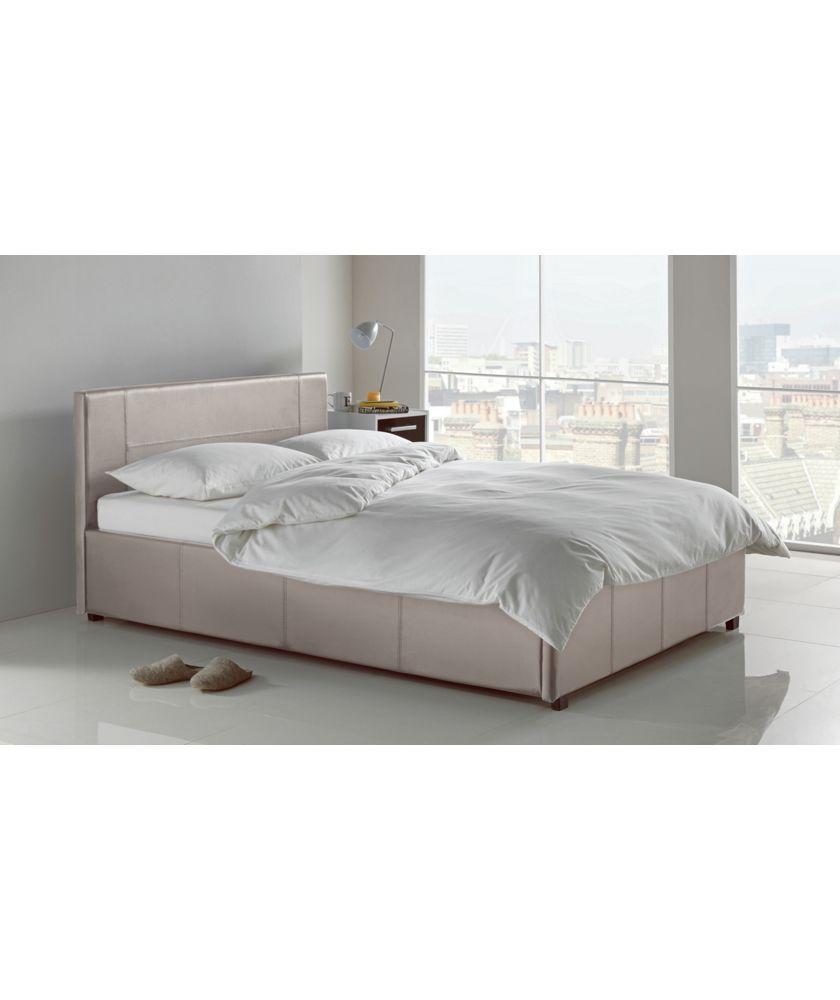 Buy Hygena Harcourt Kingsize Ottoman Bed Frame - Latte at Argos.co ...