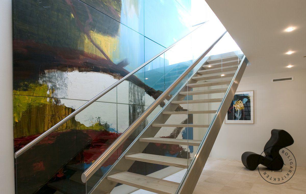 Kunst langs trappen