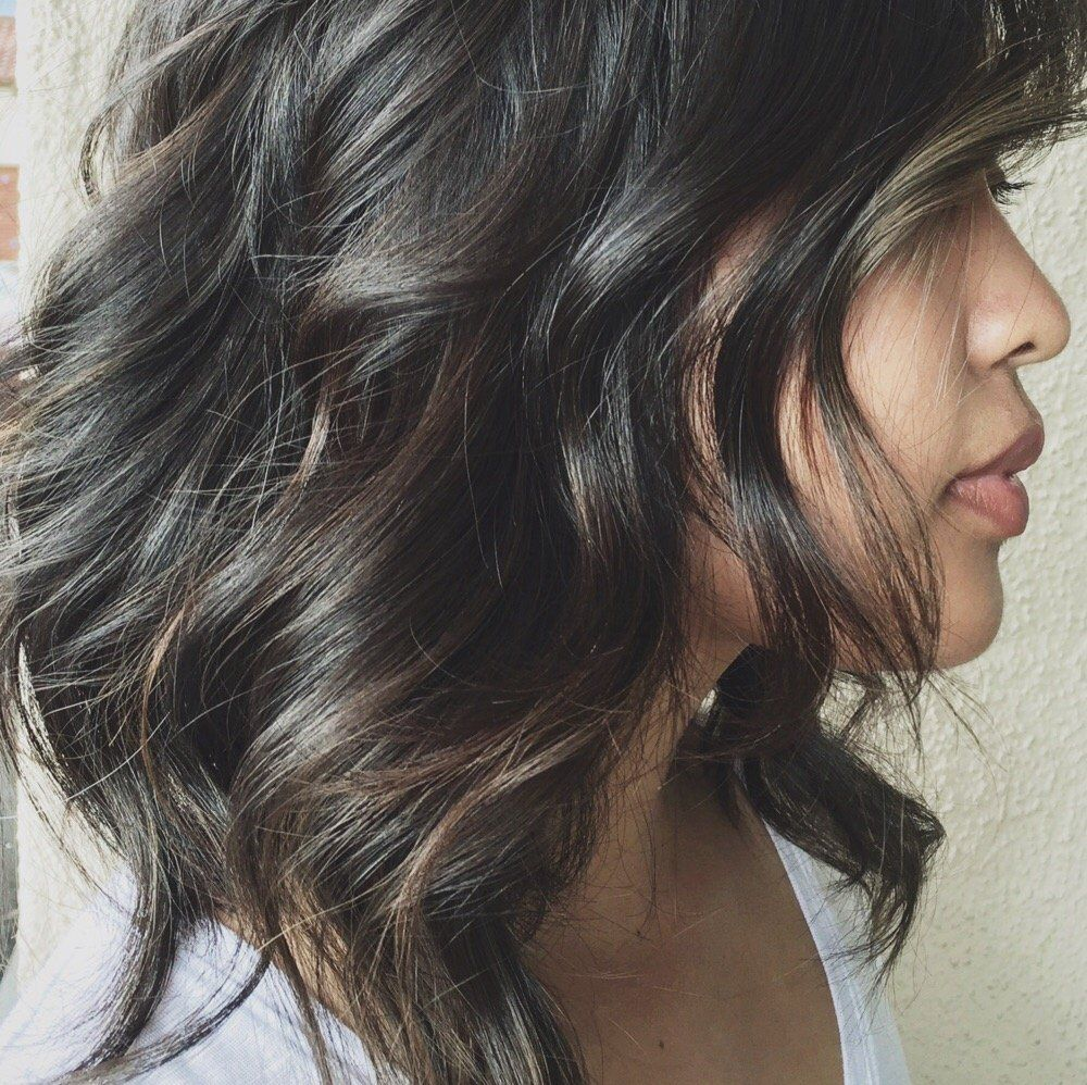 this is how you incorporate grey into dark hair with a bit