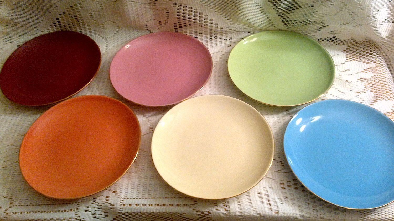 Classic Coffee Tea Dessert Plates Gold Trim Set By Megsendeavors 35 00 Plates Dessert Plate Coffee Tea