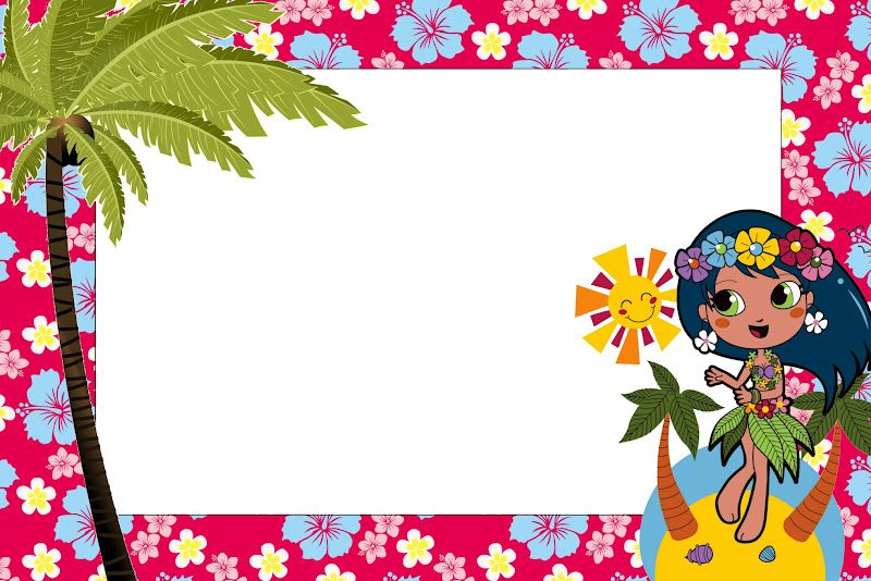 Festa Menina Havaiana Kit Completo Com Molduras Para