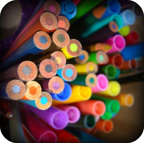 Interesting Rainbow Array Of Hand-held Colour Mediums