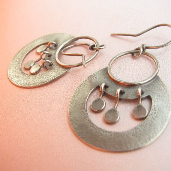 Egyptian Inspired Argentium Sterling Silver Earrings By Mocahete Jewellery Pinterest And Exotic