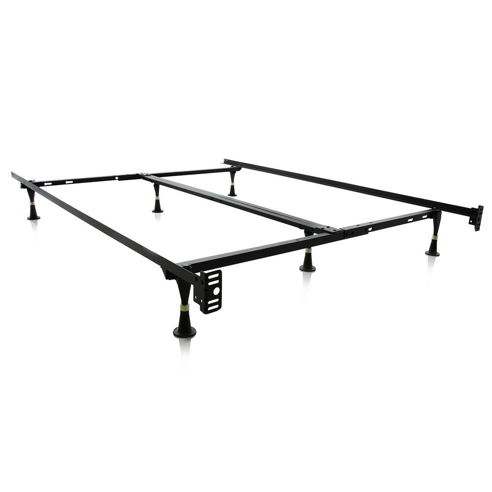 Adjustable Metal Bed Frame Heavy Duty Universal Size Support
