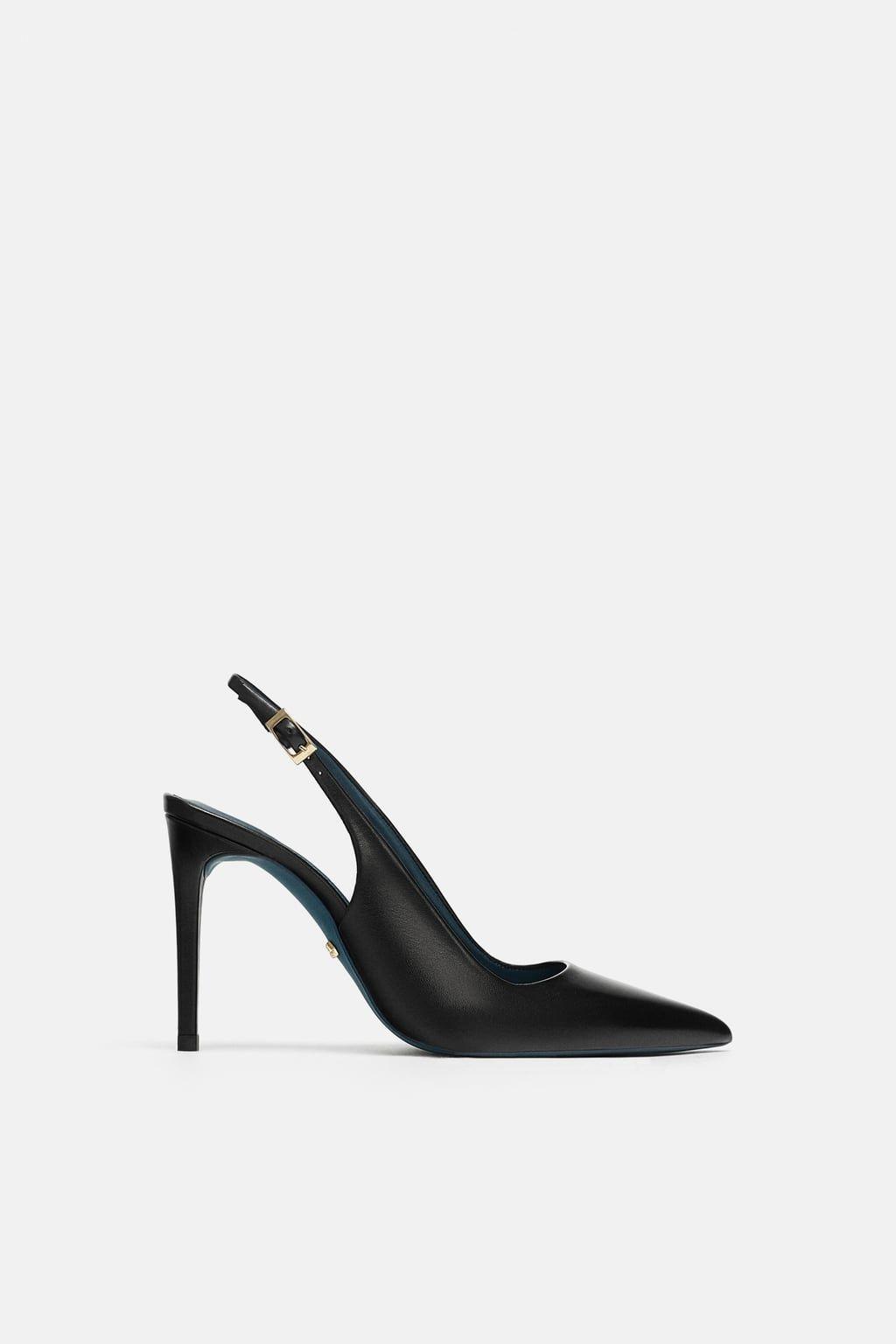 4ec33155103 Black sling-back pumps, Zara. FW Trends 2018/2019   heels in 2019 ...