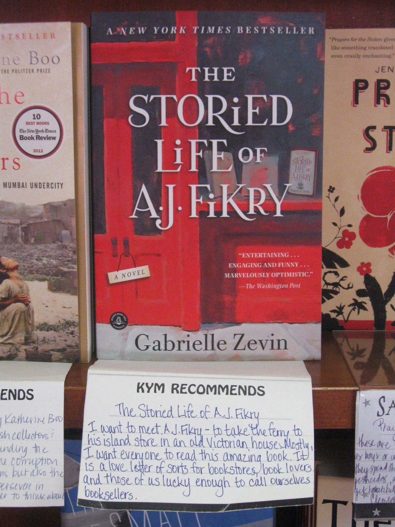 Wellesley Books The Storied Life Of A J Fikry Is A Staff Books Book Worth Reading Personalized Books
