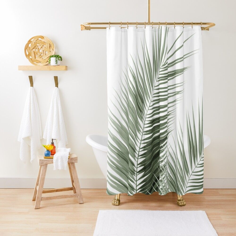 Olive Green Palm Leaves Dream Cali Summer Vibes 1 Tropical