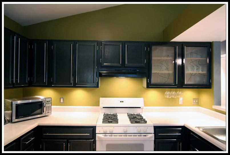 Colors Paint Kitchen Cabinets Black Kitchen Pinterest Color - Kitchen wall colors with black cabinets