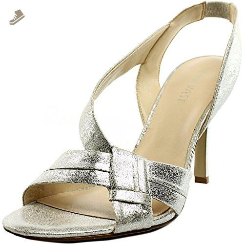 Nine West Firecrkr Women US 10 Silver Slingback Sandal