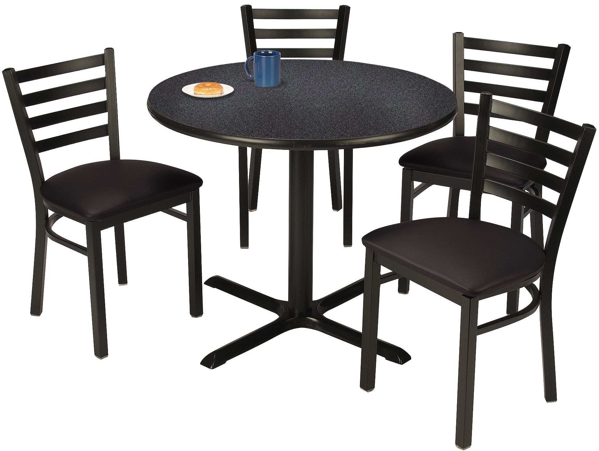 Round Cafeteria Table And Chair Set Cafeteria Table Cafe Chairs Table Chair Sets