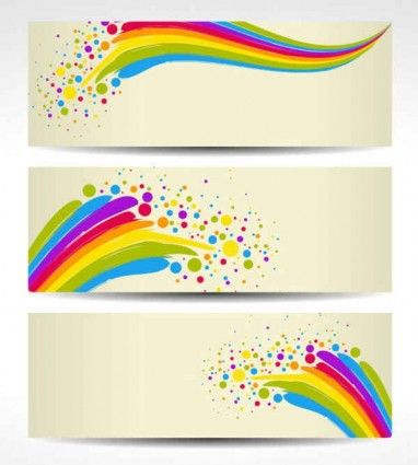 Colorful Banners Background Free License Creative Commons