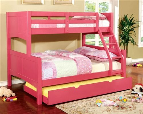 Chase Cottage Wood Twin On Full Bunk Bed Bunk Bed With Trundle
