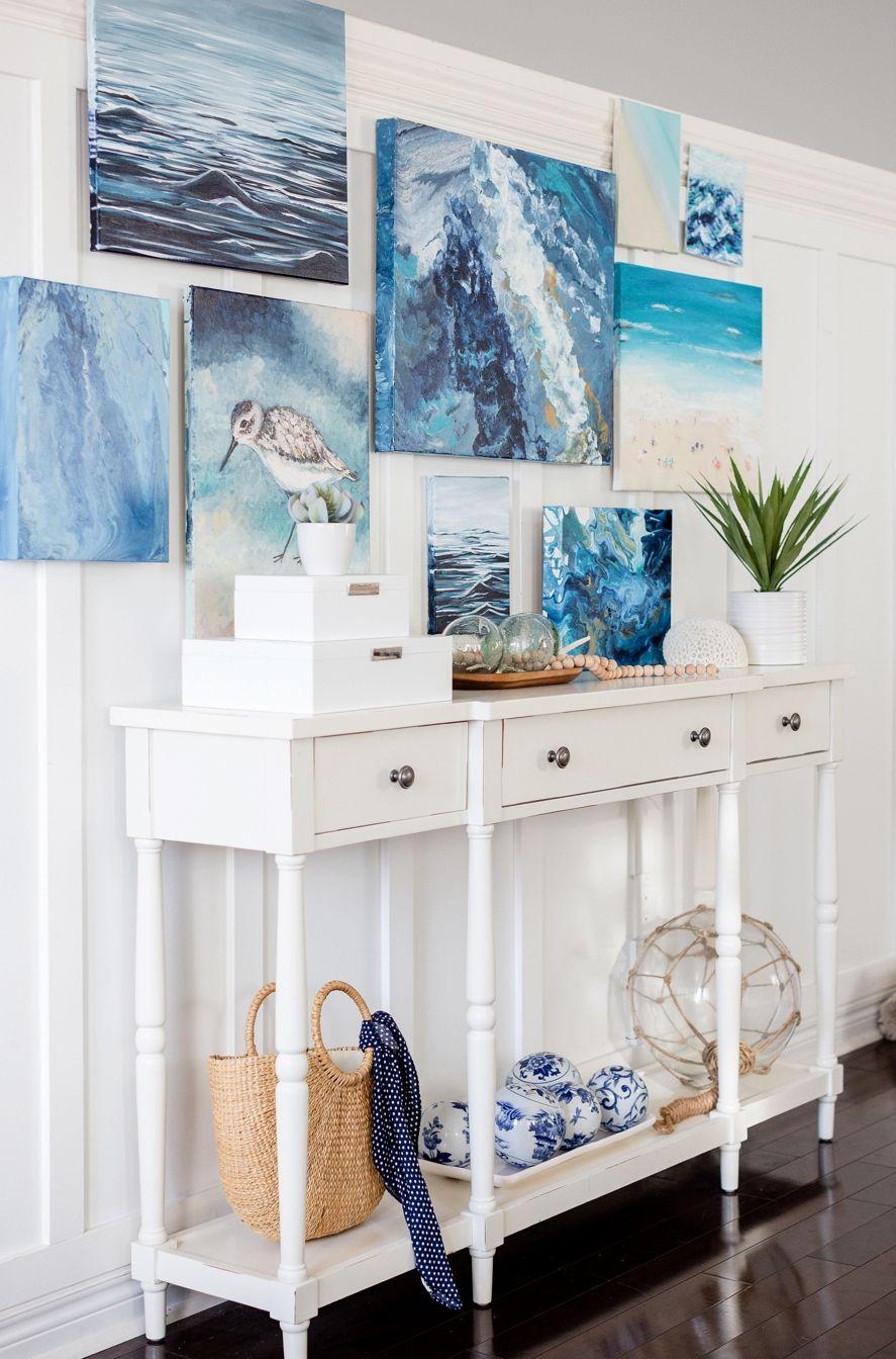 30 Coastal Gallery Walls Inspiration Ideas To Create A Compelling Wall Art Display Coastal Gallery Wall Coastal Decor Decor