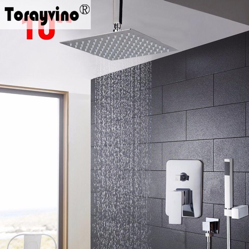 Torayvino Bathroom Shower Head Shower Set 10 Inch Bathroom Faucet ...