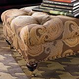 custom Rectangle Ottoman from bassett... expensive but custom. obvi not in this fabric