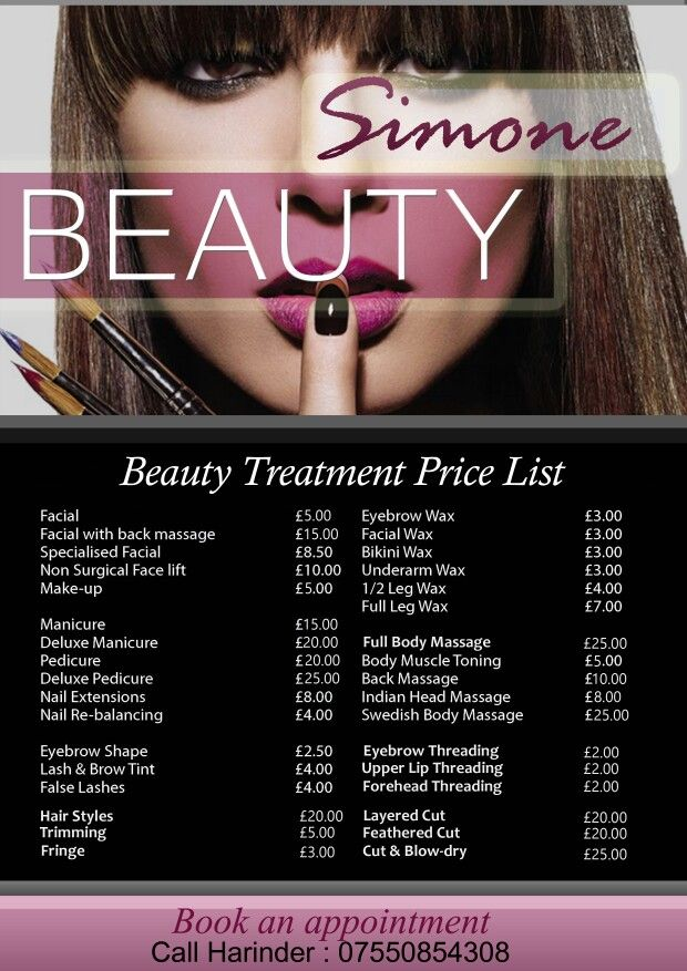 Beauty Salon Flyer Design Grphics Pinterest Flyer Template - Beauty salon flyer templates free