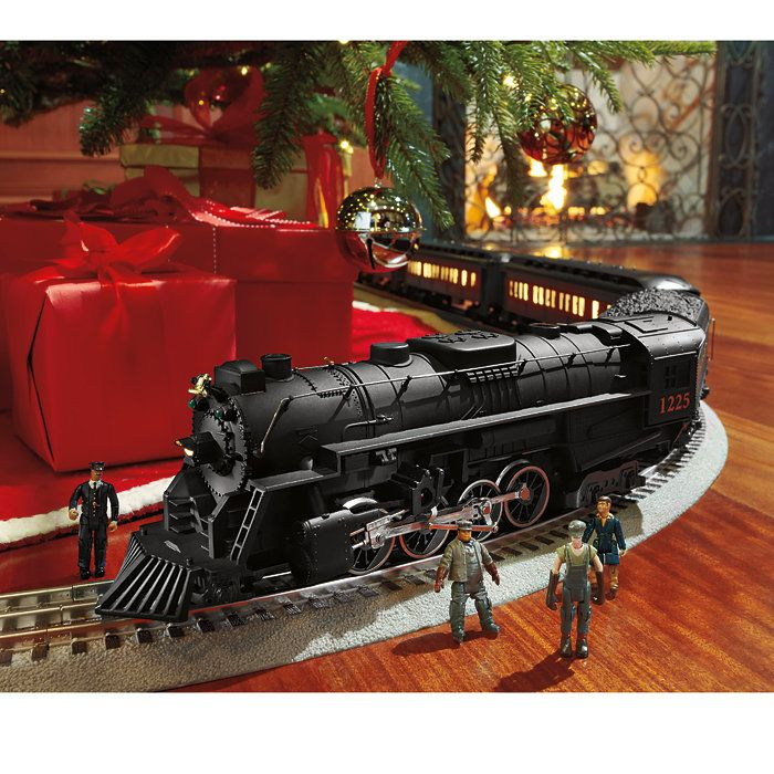 polar express set is a faithful reproduction of the original movie version train around christmas - Around The Christmas Tree Train Set