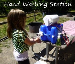 """Camping Hand Washing Station Homesteading  - The Homestead Survival .Com     """"Please Share This Pin"""""""