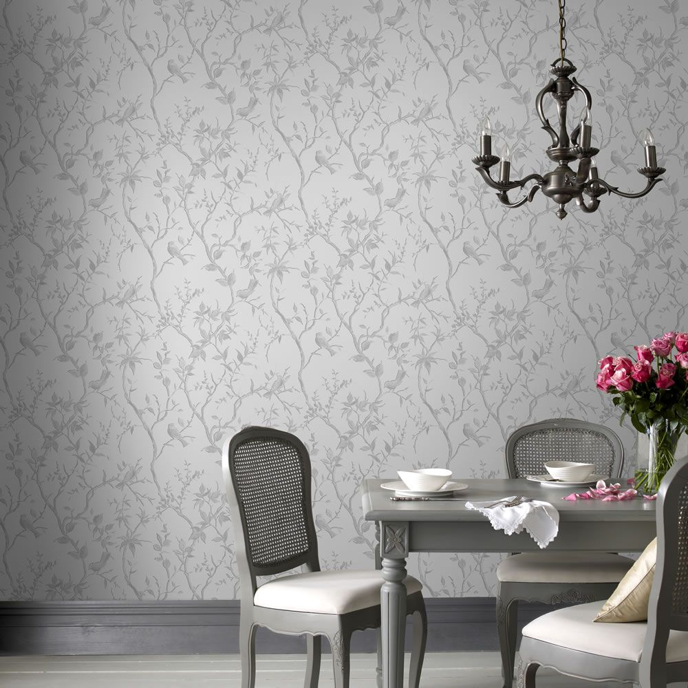 Superfresco Easy Wallpaper Laos Trail White and Si lver
