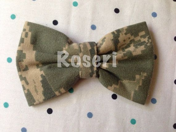 Camo Air Force Proud Authentic BDU Hair Bow Handmade MADE To ORDER free shipping usa only on Etsy, $15.00
