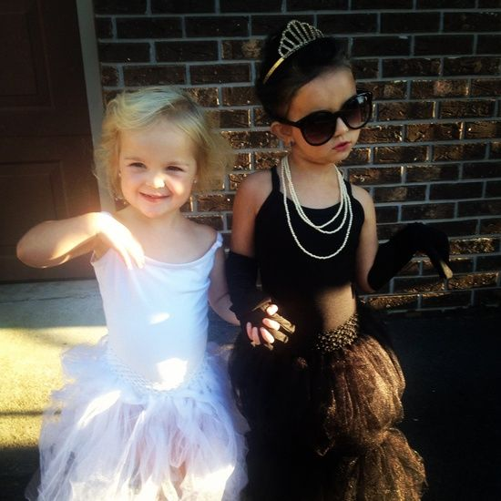 Marilyn Monroe and Audrey Hepburn Time to get spookyyyy - mother daughter halloween costume ideas
