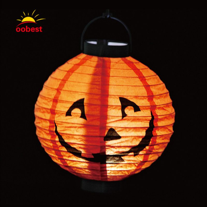 Oobest Halloween Led Night Light Hanging Paper Lantern Place