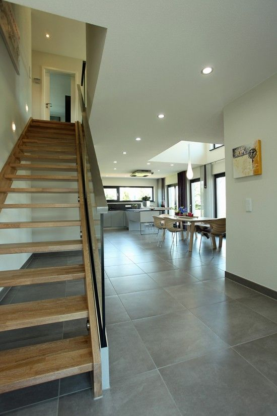 Wohnideen Treppenaufgang fertighaus wohnidee diele flur und galerie wohnideen diele flur