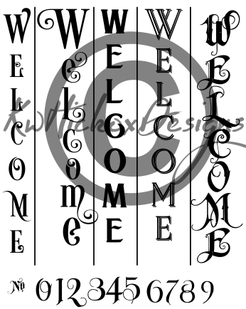 Here Is Your Large Welcome Sign Bundle I Ve Included Numbers You Can Move Around And Use As You Wish 5 Different Ver Welcome Sign Welcome Stencil Sign Fonts
