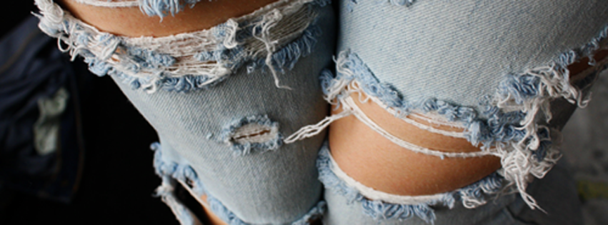 644546b777 Faded Ripped Jeans Facebook Cover | FB Cover Photos | Fashion ...