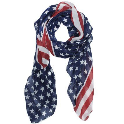 Patriotic American Flag Scarf only $3.19SHIPPED!