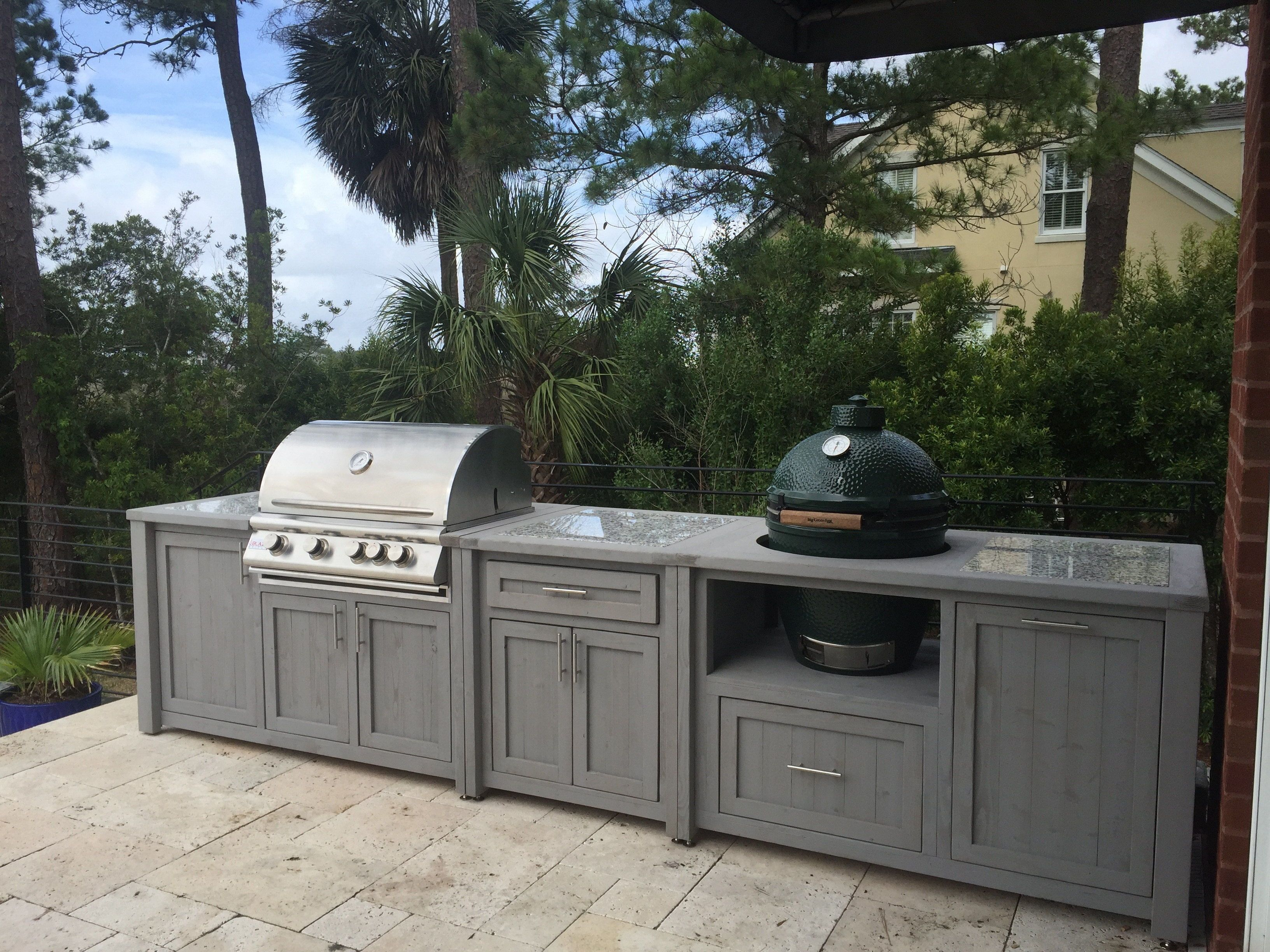 Pin By Rustic Woodworx On Big Green Egg Grill Tables Cabinets In