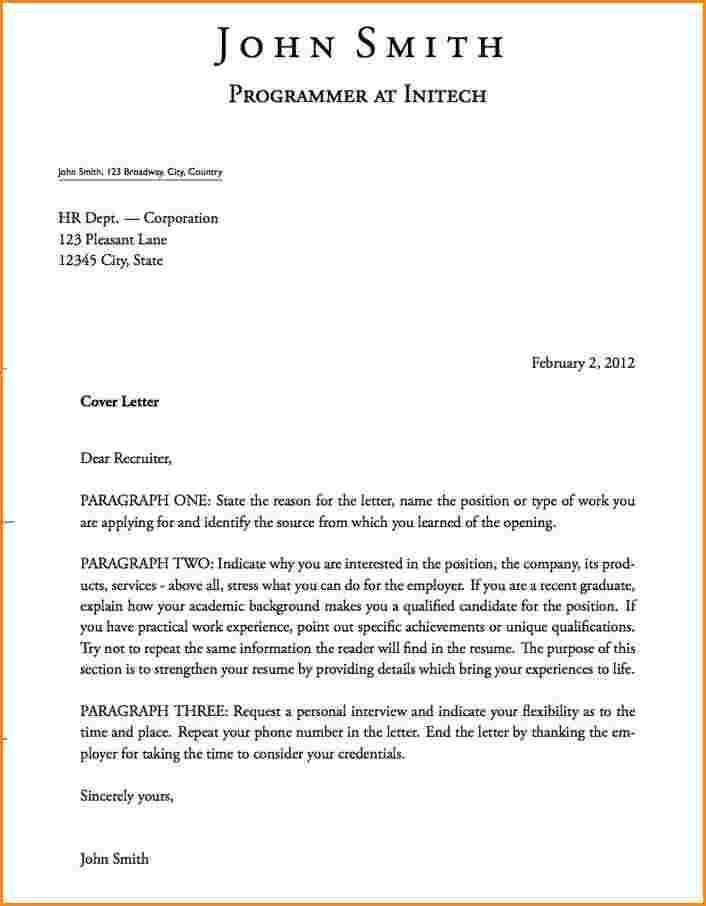 Format Lettersce Ideas Cover Letter Formats Job Seeker Signature