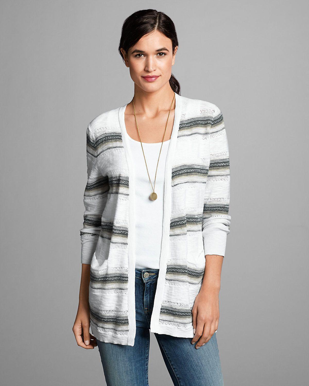 Women's Open Boyfriend Cardigan Sweater | Eddie Bauer | Style ...