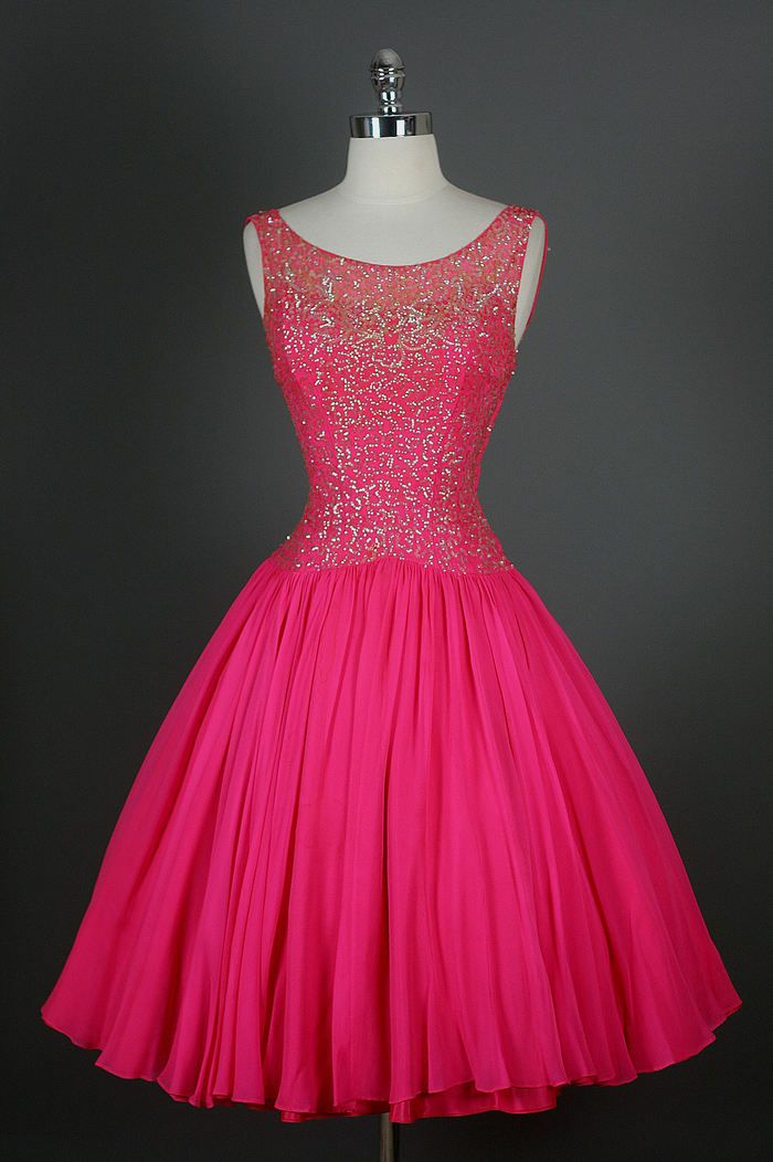 50s dress | For The Love of Color | Pinterest | Noche, Rosas y ...