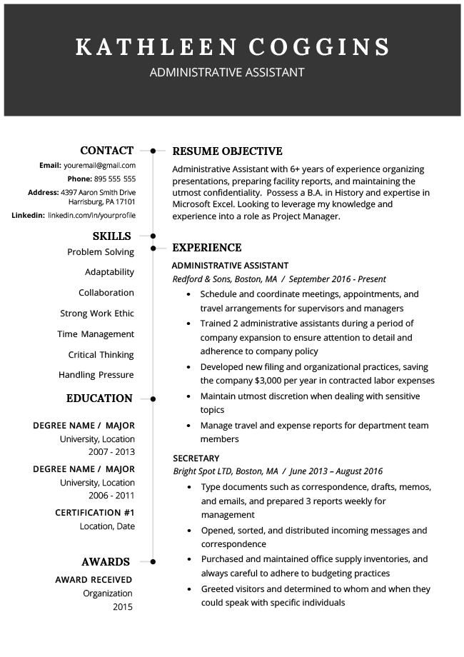 15 Resume Objective Examples How To Write A Career Objective In 2020 Resume Template Free Downloadable Resume Template Modern Resume Template Free