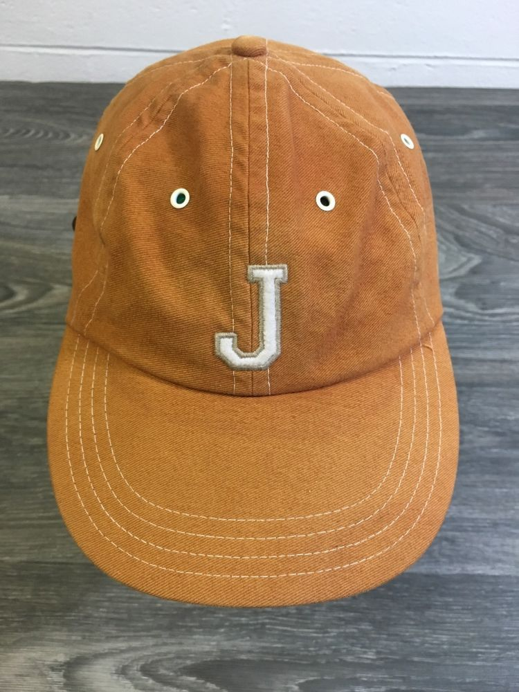 b769a6a5733 Jersey City Giants Hat Vtg 90s Strapback Blue Marlin USA Sewn Baseball   BlueMarlin  jerseycitygiants