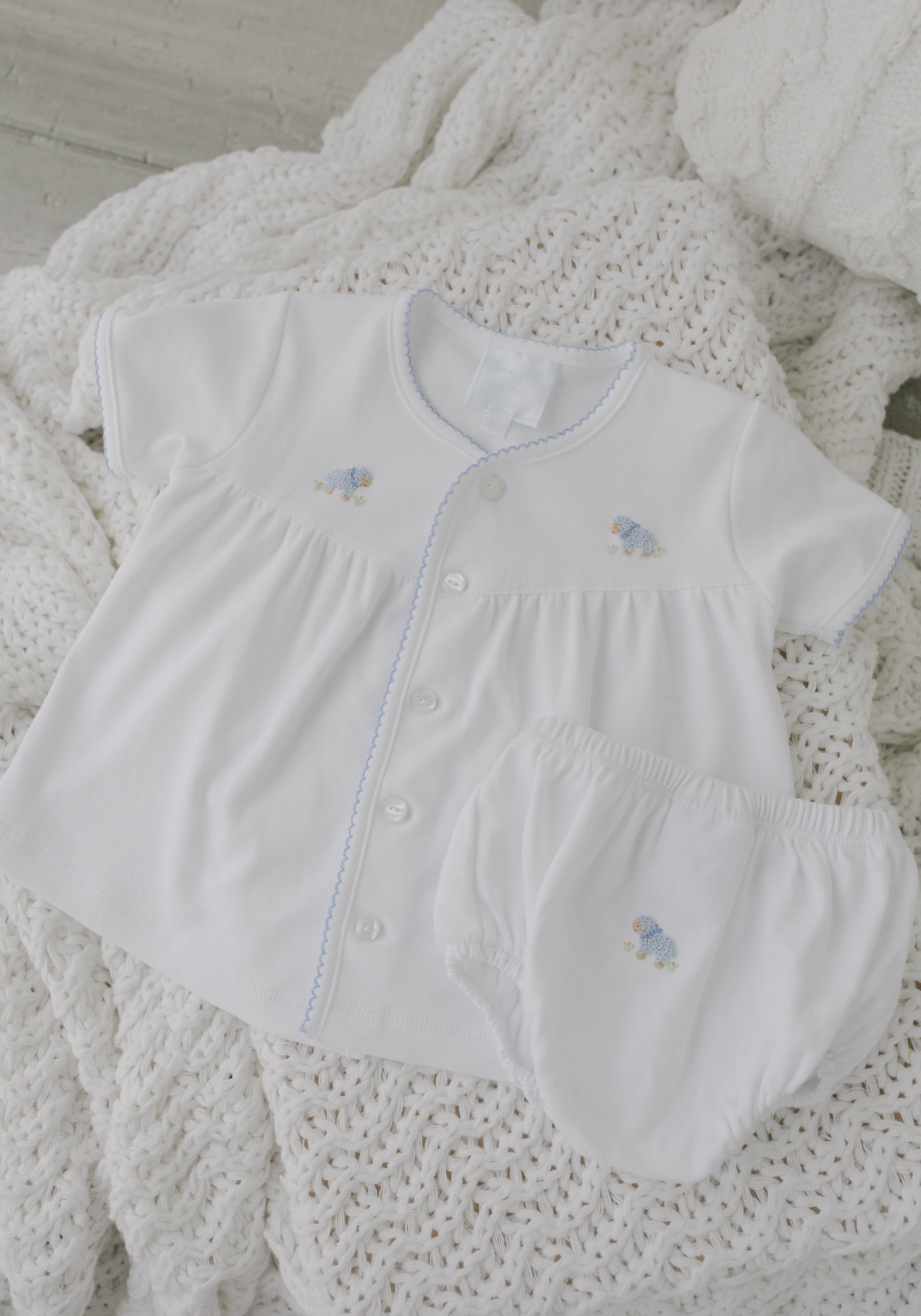 d31c30b95 Indulge your little one in 100% Peruvian Pima Cotton with tiny french knot  details and picot trim. These new layette sets will melt your heart. Sweet  ...