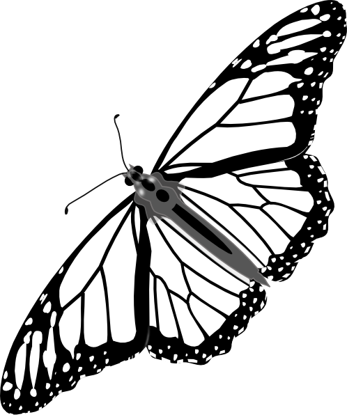 black butterfly tattoos monarch butterfly bw no shadow clip art vector clip art online