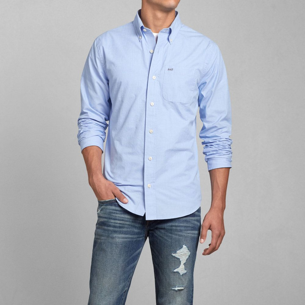 Cheap Abercrombie Fitch Clothing 09 New Abercrombie Mens Hoodies Best Abercrombie Fitch Clothing: Mens Classic Fit Poplin Shirt