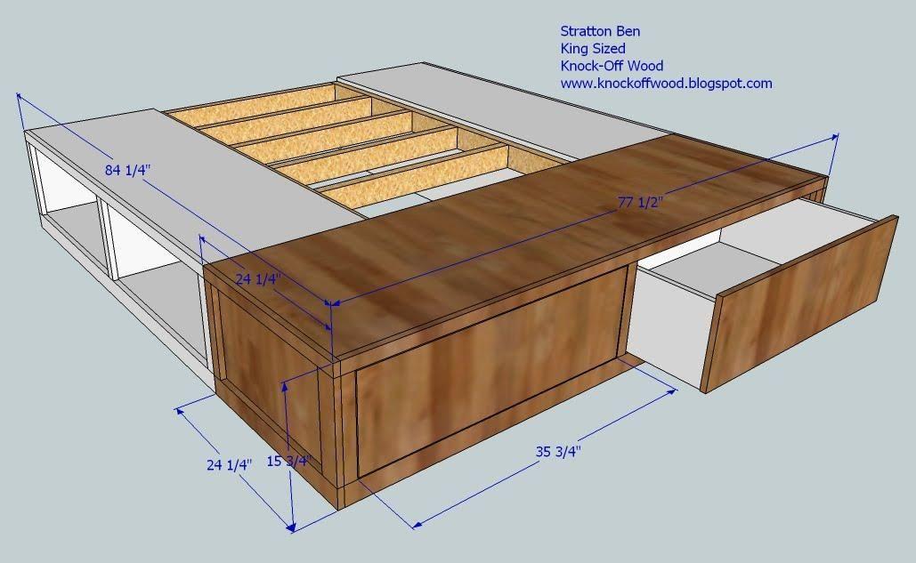 Classic Storage Bed King Diy Storage Bed Diy Furniture Plans