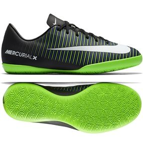 6172e6dd496 Nike Youth Mercurial Vapor XI IC Indoor Soccer Shoes (Black White Electric  Green)